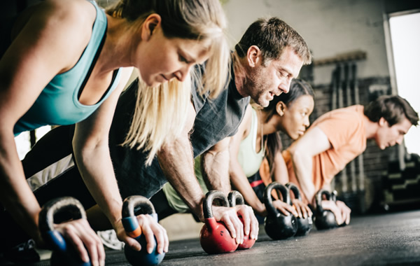 Kettlebells Workouts in Progress at Hartland Movement Center