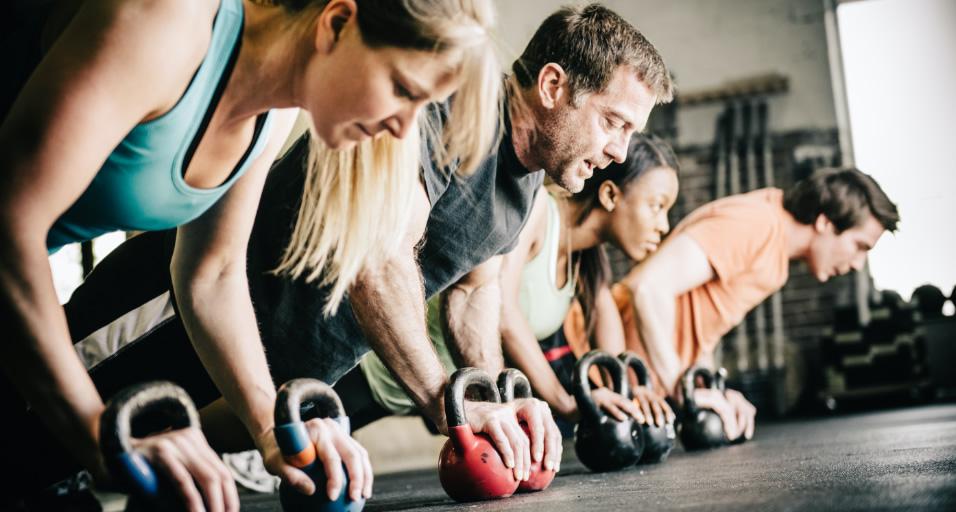 Kettlebells Workouts in Progress at Hartland Movement Center
