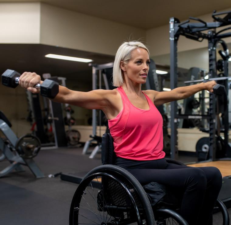 Para Athlete Exercising