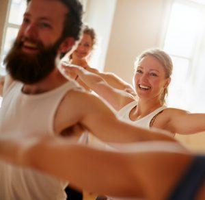 Participants in Yoga Class